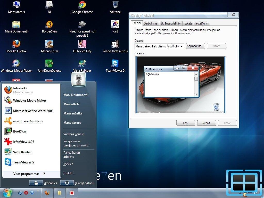 Оформление Xp Под Windows 7
