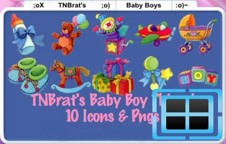 Baby Boy Things Icons